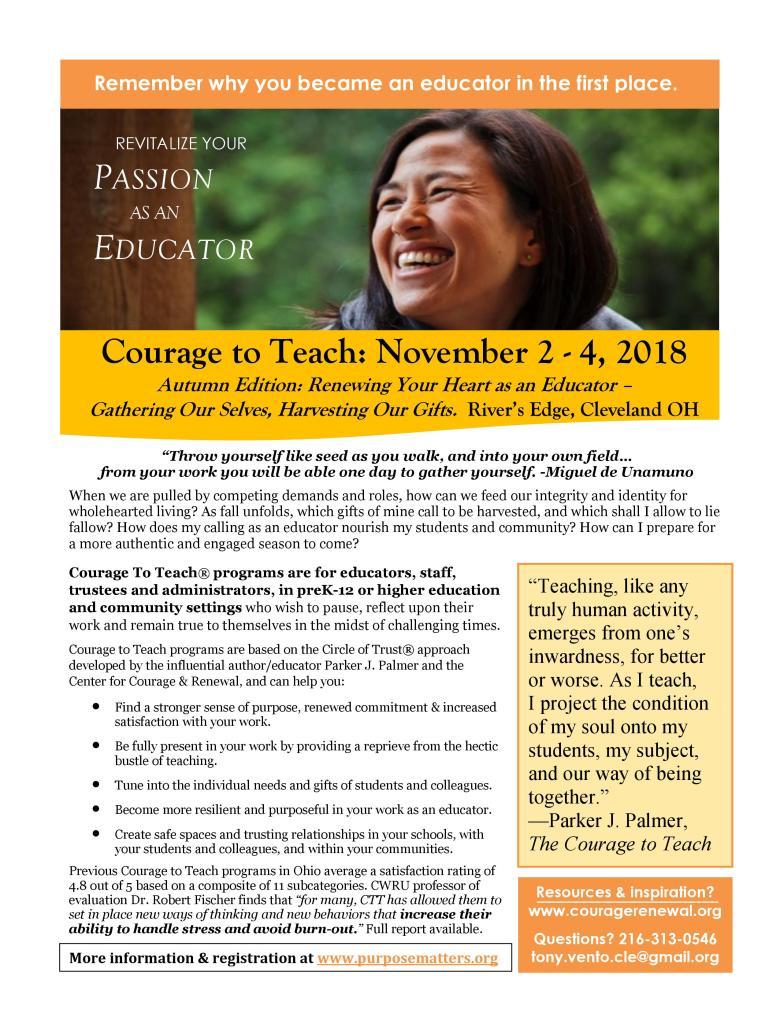 CTT Nov 2018 Cleveland Bulletin Board