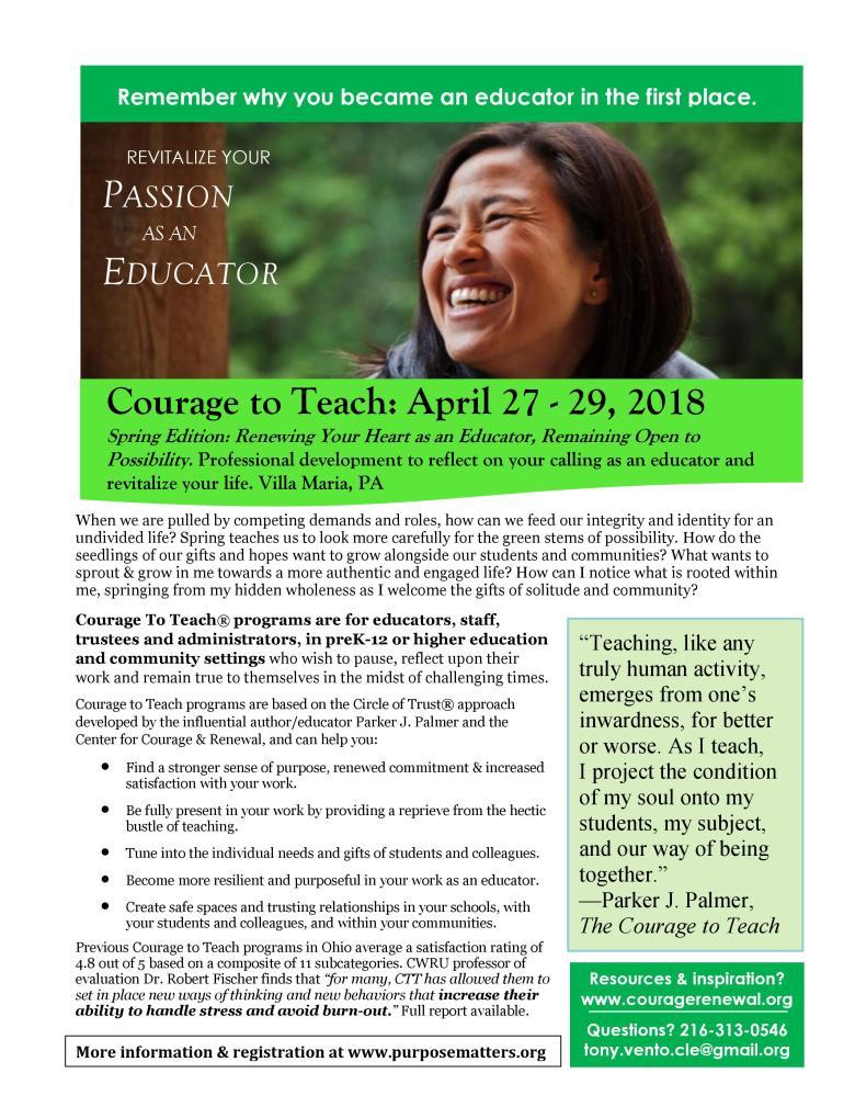 Spring Green VM CTT April 2018 Bulletin Board